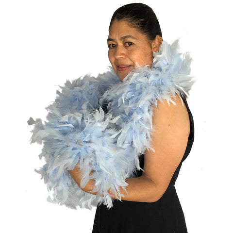 Light Blue 120 Gram Chandelle Feather Boa