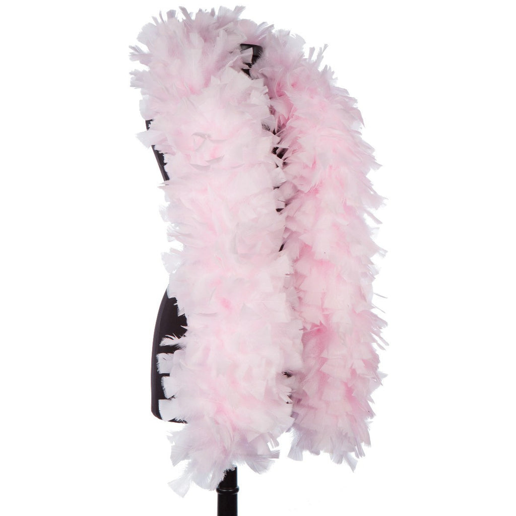 Light Pink 150 Gram Turkey Feather Boa on Manikin