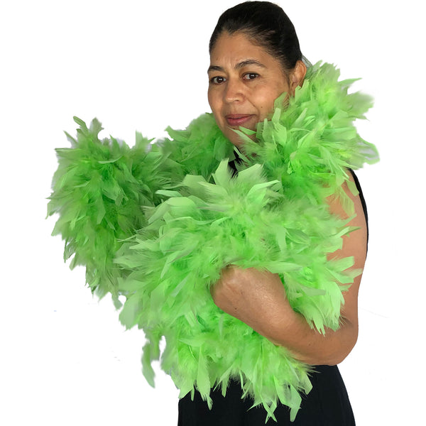 Lime Green 120 Gram Chandelle Feather Boa