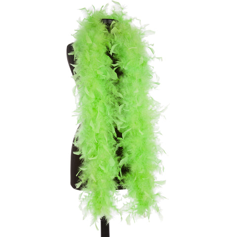 Lime Green 65 Gram Feather Boas