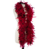 Red 40 Gram Chandelle Feather Boas with Black Tips