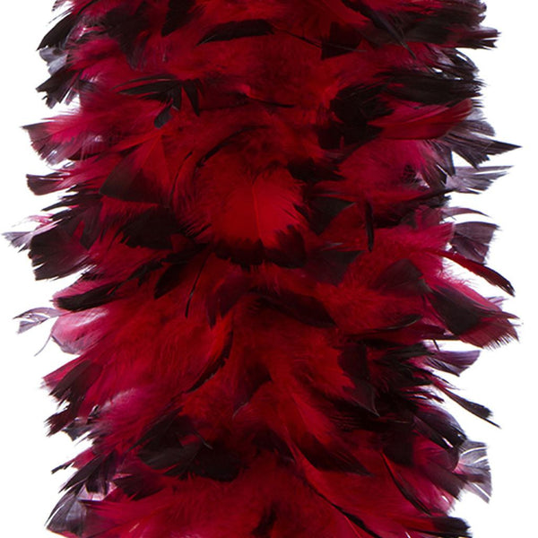Red with Black Tip 150 Gram Turkey Feather Boa
