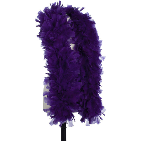 Regal Purple 150 Gram Turkey Feather Boa on Manikin