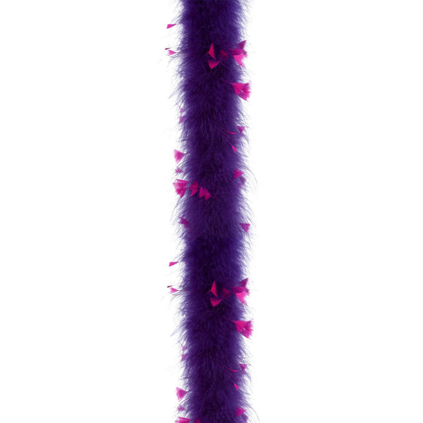 Regal Purple with Hot Pink Turkey 25 Gram Marabou Feather Boa