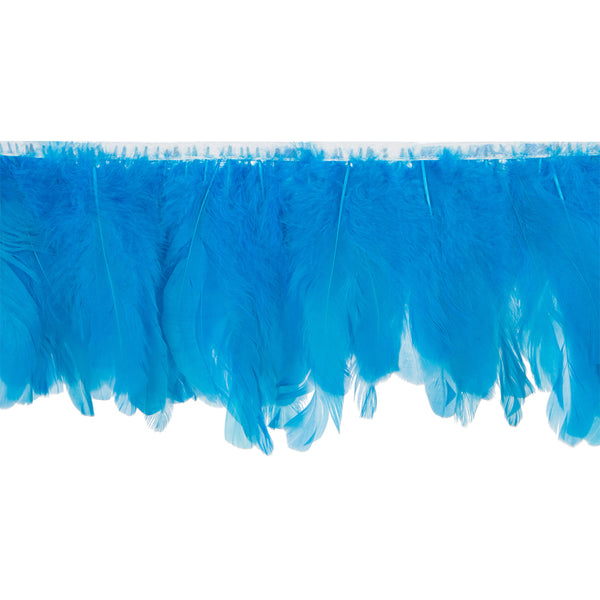 Turquoise Blue Handmade Goose Duck Feather Trim Fringe