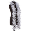 White 40 Gram Chandelle Feather Boas with Black Tips