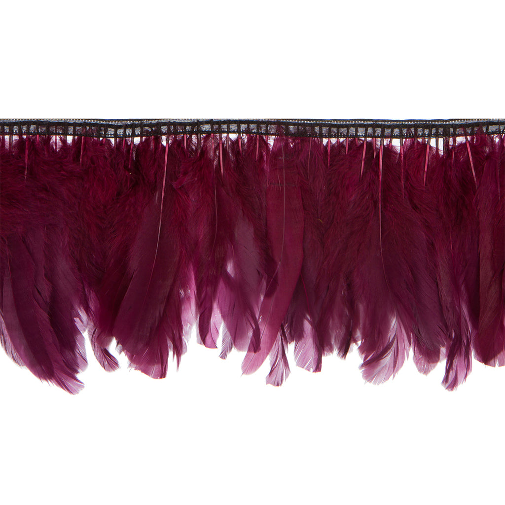 Wine Handmade Goose Duck Feather Trim Fringe