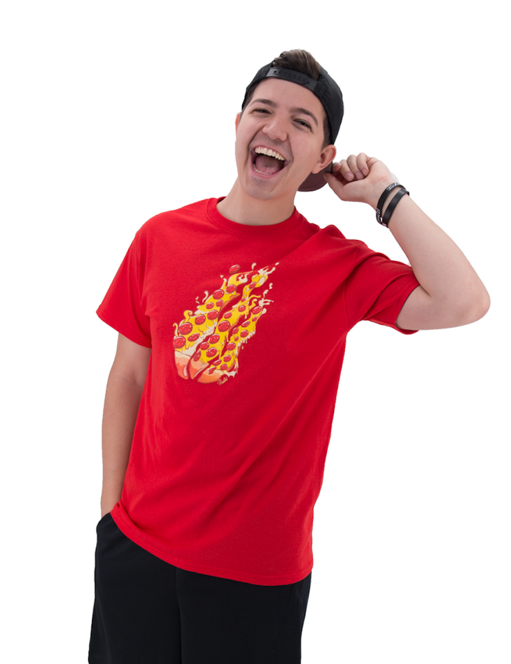 Pizza Tee Red