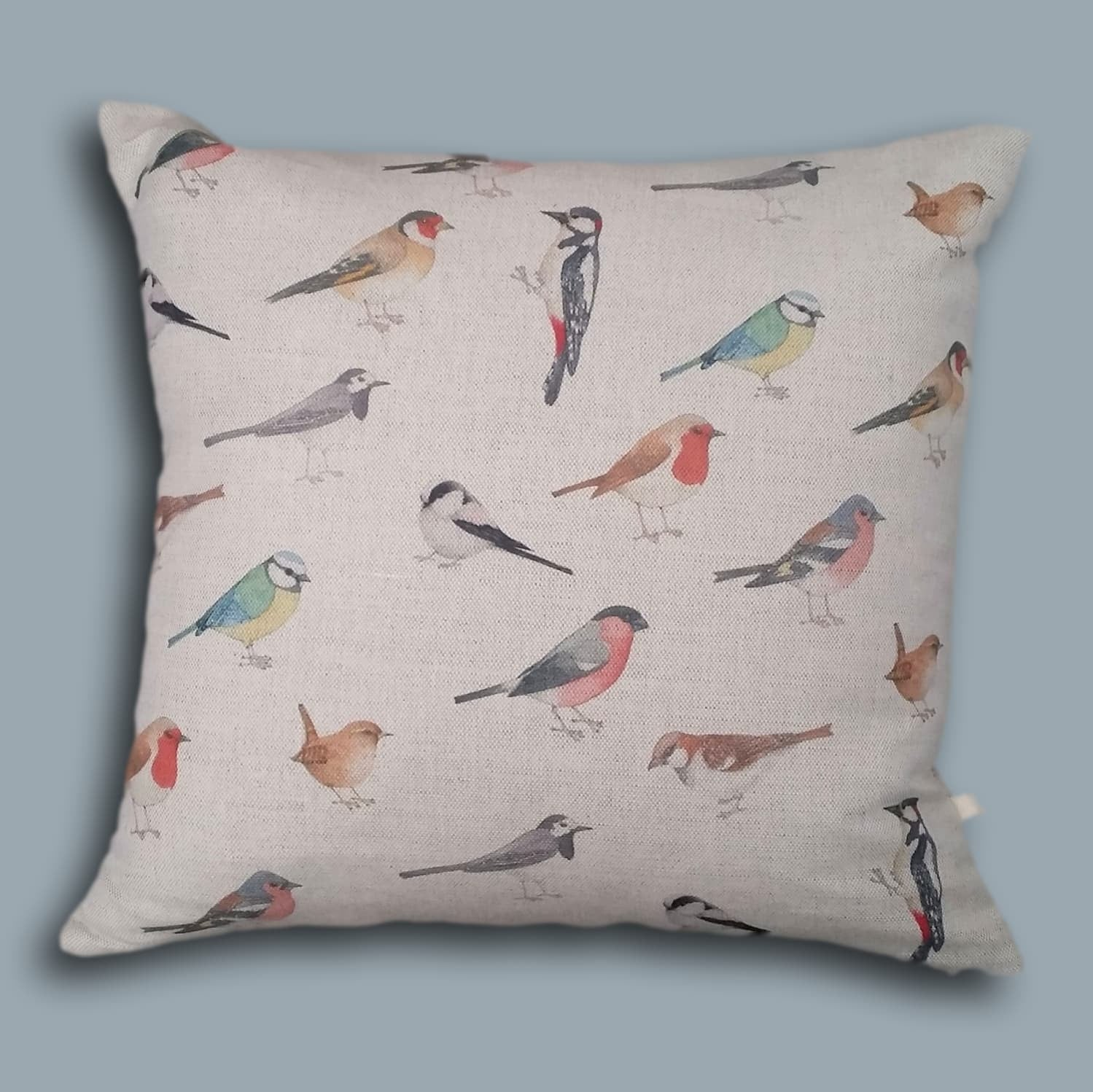 Bird cushion - garden birds