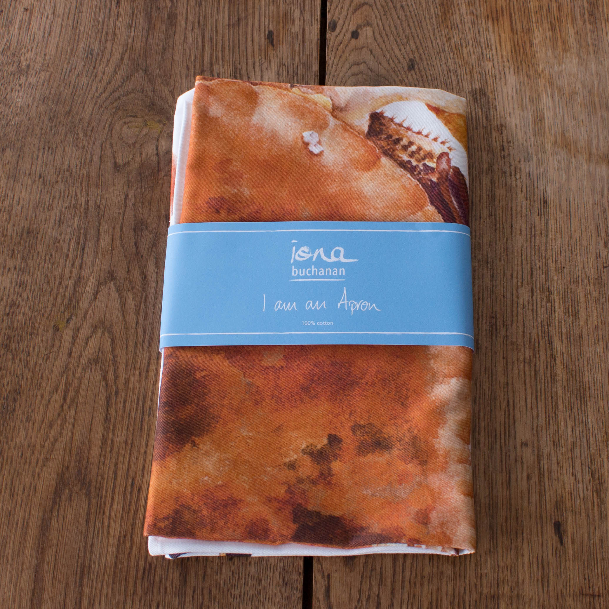Apron - crab design in packaging