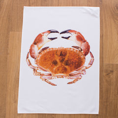 tea towel with crab design