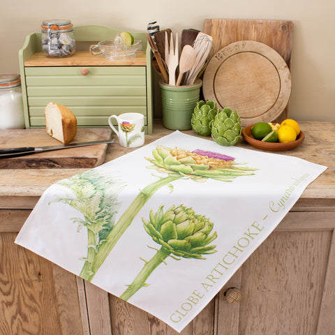 tea towel with Artichoke design