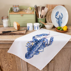 tea towel with lobster design