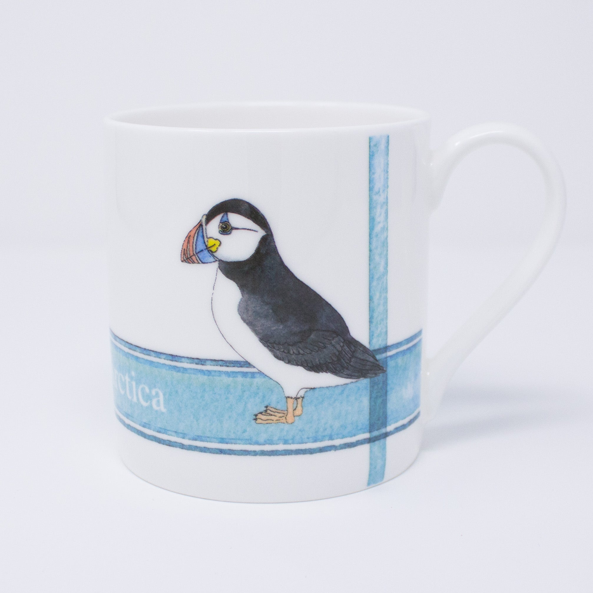 Quite big mug with Puffin design