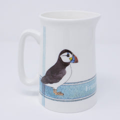 Jug, half pint jug with Puffin design
