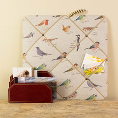Noticeboard, memo board square with garden bird design