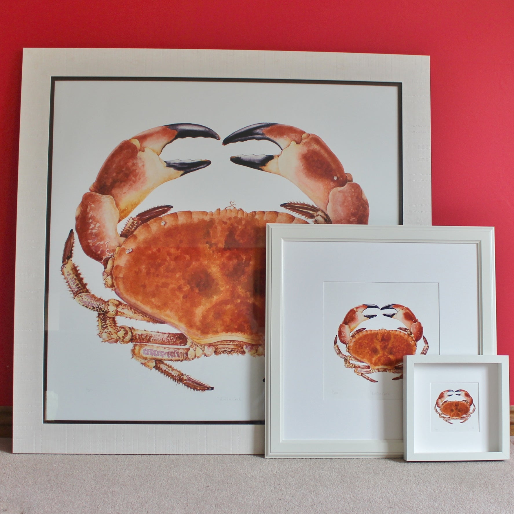 Crab print - artist's quality print of crab painting