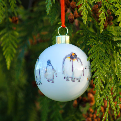 Penguin parade Christmas Bauble