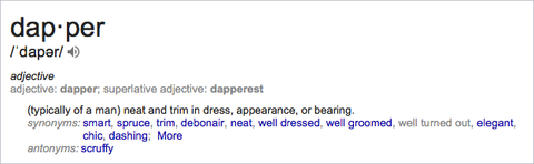 What is the Definition of Dapper? - Kirrin Finch