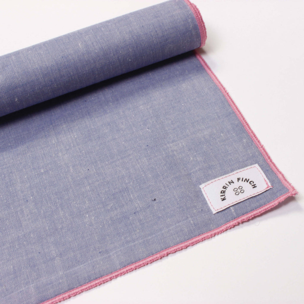 Light Blue Chambray Pocket Square