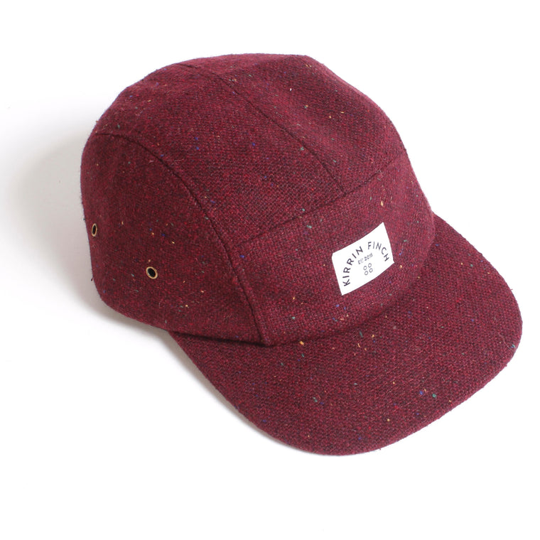 Burgundy Wool 5 Panel Hat
