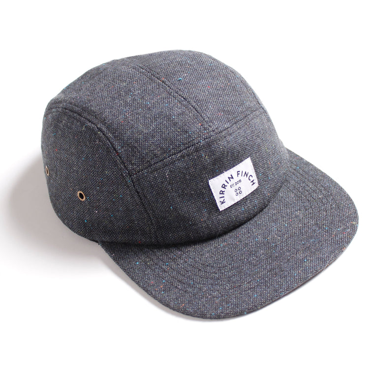 Charcoal Wool 5 Panel Hat