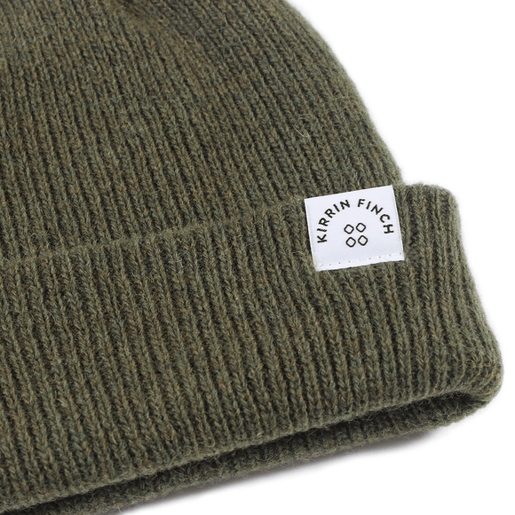 Forest Green Merino Wool Beanie