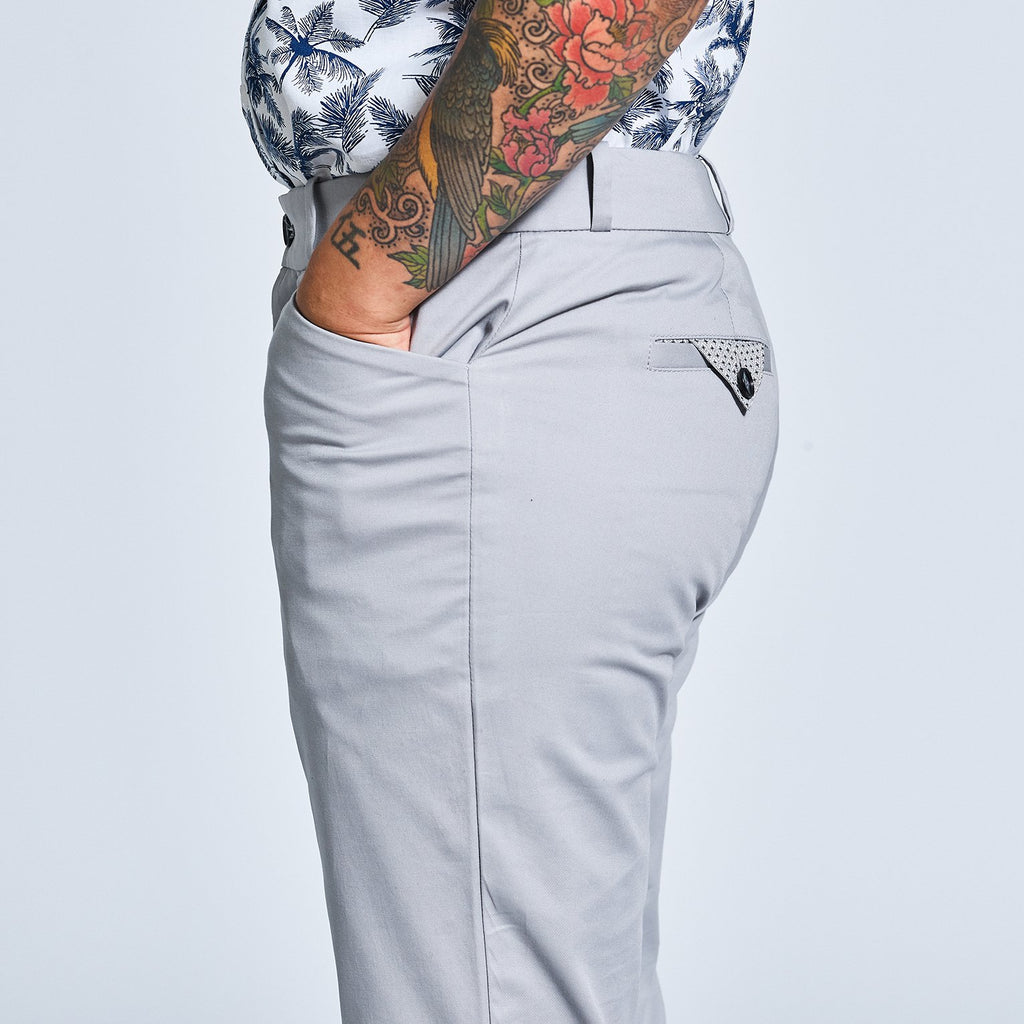The Windsor Light Gray Chinos