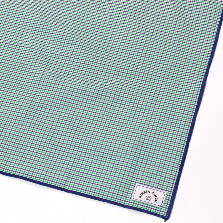 Green Gingham Pocket Square