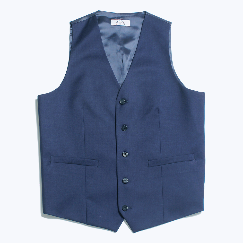 The Georgie Navy Vest