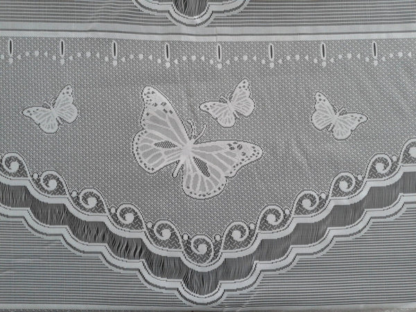Rideau voilage blanc motif Butterfly (Zoom)