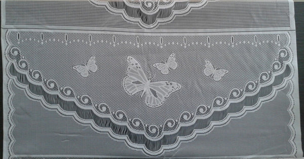Rideau voilage blanc motif Butterfly
