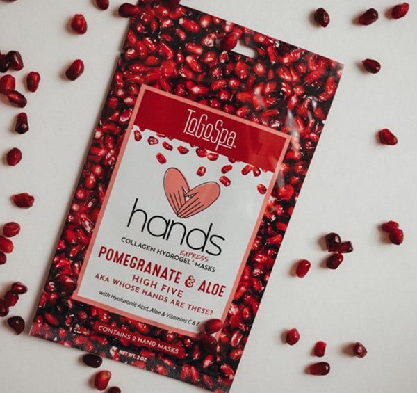 Pomegranate + Aloe HANDS: AKA Whose Hands Are These?