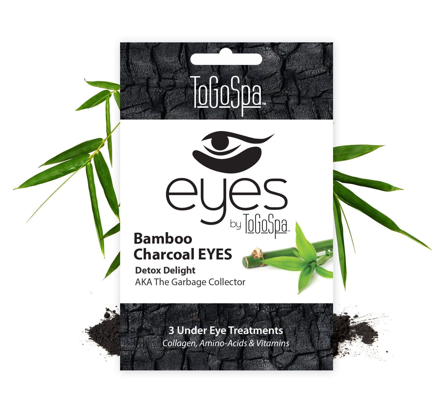 ToGoSpa bonus Bamboo Charcoal / 1-pack-3-treatments Bonus Pack Of Bamboo Charcoal Eyes