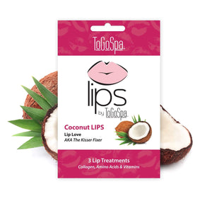 ToGoSpa bonus Coconut / 1-pack-3-treatments Bonus Pack Of Coconut Lips by ToGoSpa