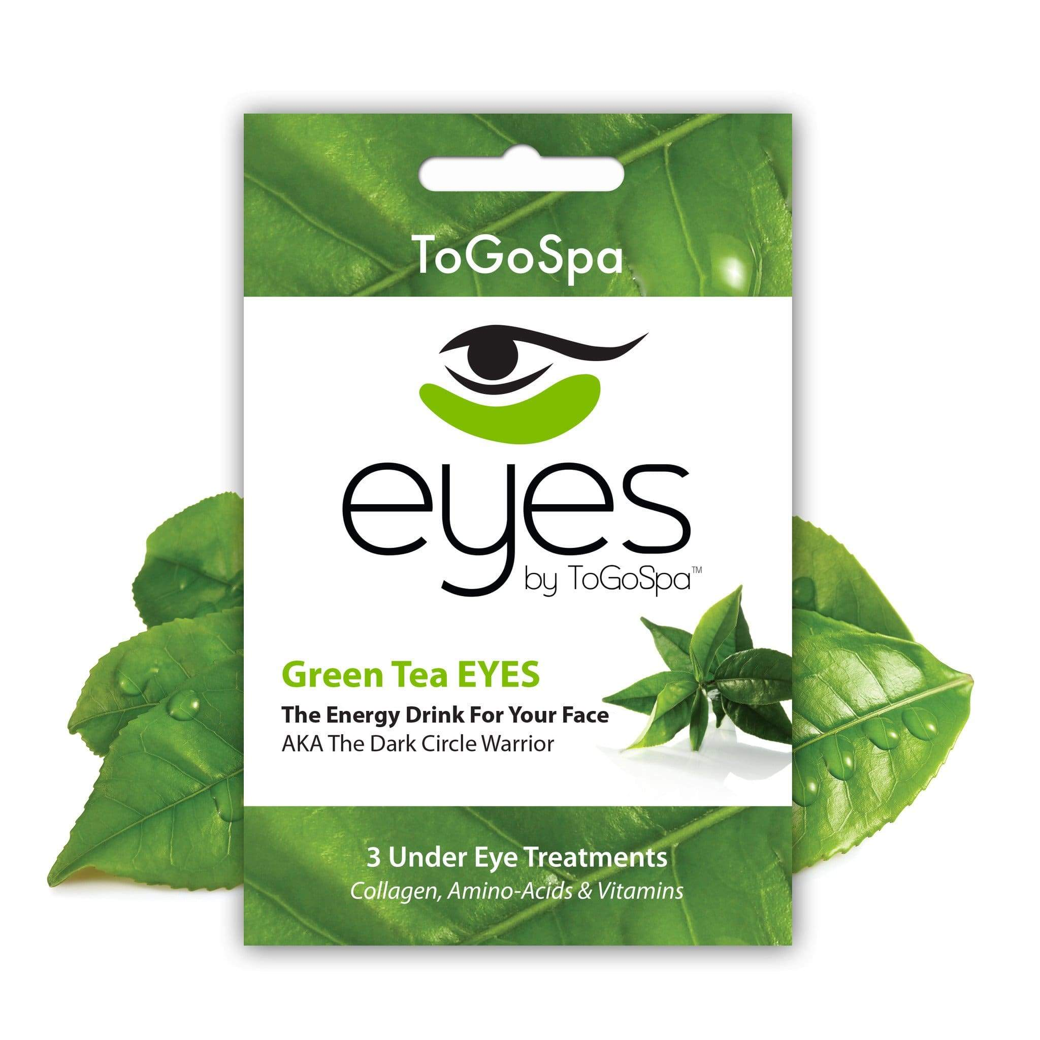 ToGoSpa bonus Green Tea / 1-pack-3-treatments Bonus Pack Of Green Tea Eyes - Lilly10