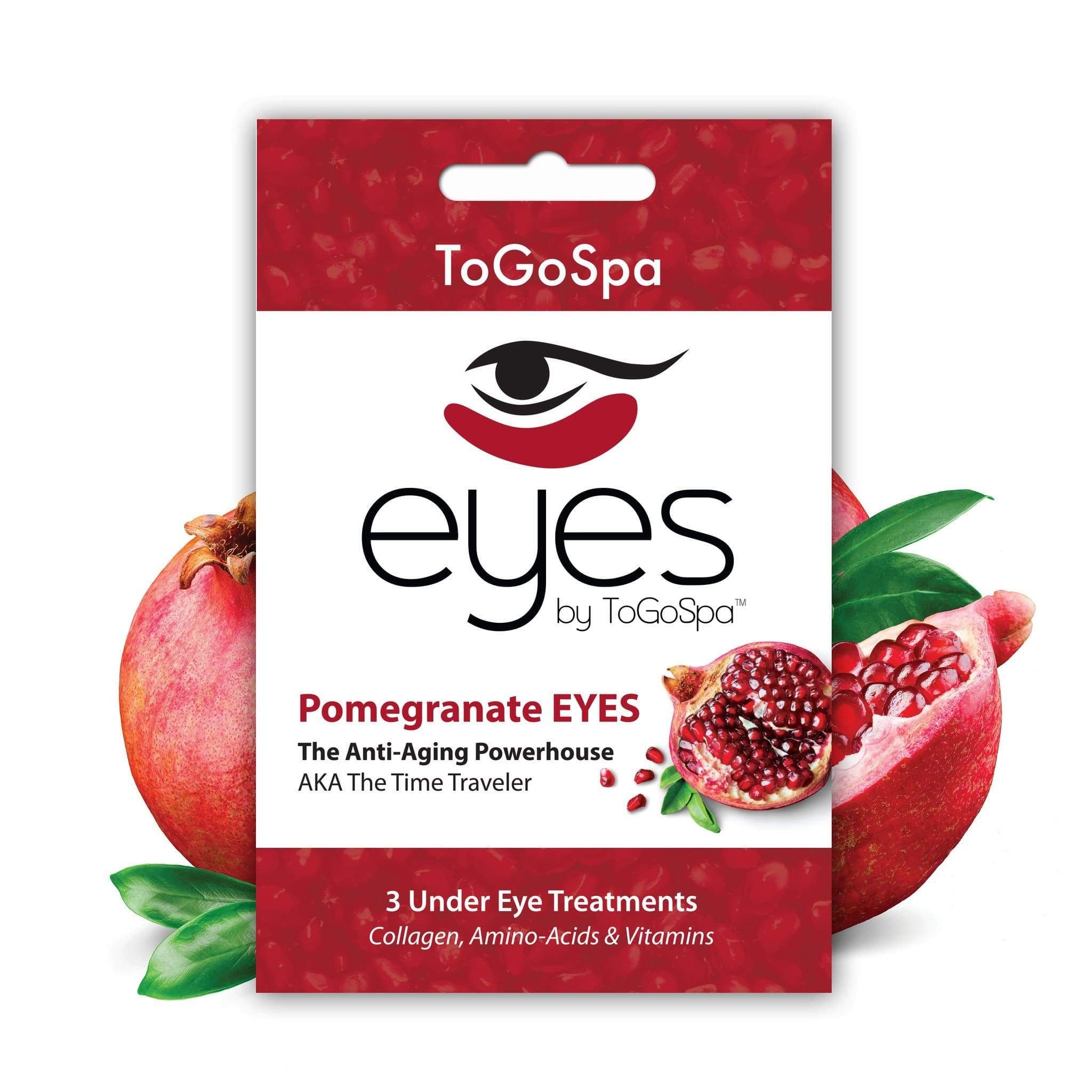 ToGoSpa bonus Pomegranate / 1-pack-3-treatments Bonus Pack Of Pomegranate Eyes - stayyoung