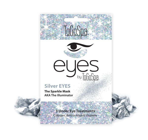 ToGoSpa eyes 1-pack-3-treatments Bonus pack of Silver EYES by ToGoSpa - Silver Sparkle- 3 Treatments