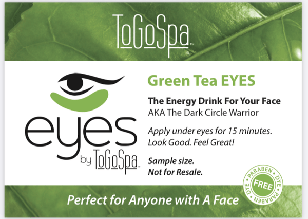 ToGoSpa wholesale Green Tea Eyes (50 singles) Wholesale Eyes and Lips Promotional Giveaway Singles