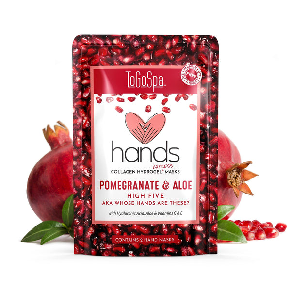 ToGoSpa Wholesale Pomegranate + Aloe HANDS (10 pairs) Wholesale HANDS