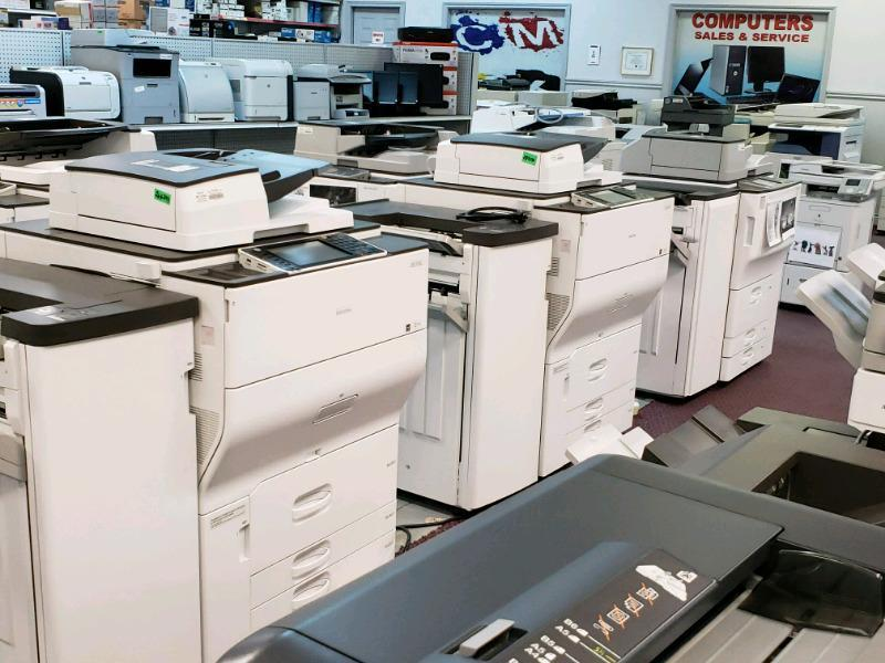 How do I print labels on a Ricoh printer?