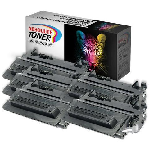 HP CE390A Compatible Black Toner Cartridge Combo of 5