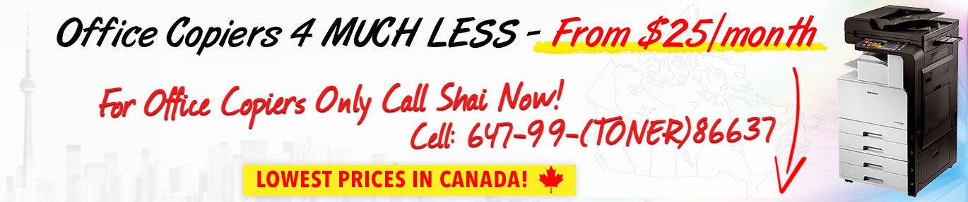 Office copiers for much less - lowest prices in Canada on copiers!