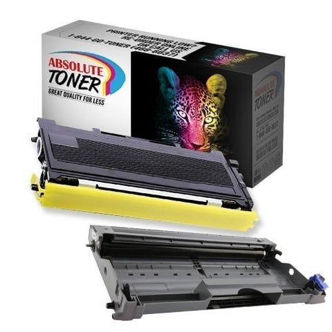 1 + 1 Brother TN-350 Black Toner + DR-350 Drum Unit Compatible Cartridge Combo