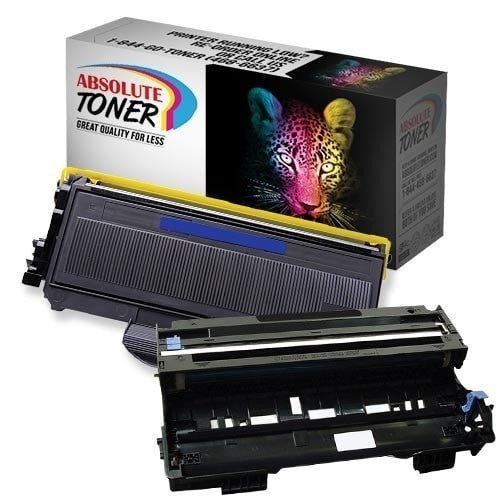 Absolute Toner Compatible 1 + 1 Brother TN-360 High Yield Black Toner + DR-360 Drum Unit Combo (High Yield Of TN-330) Brother Toner Cartridges