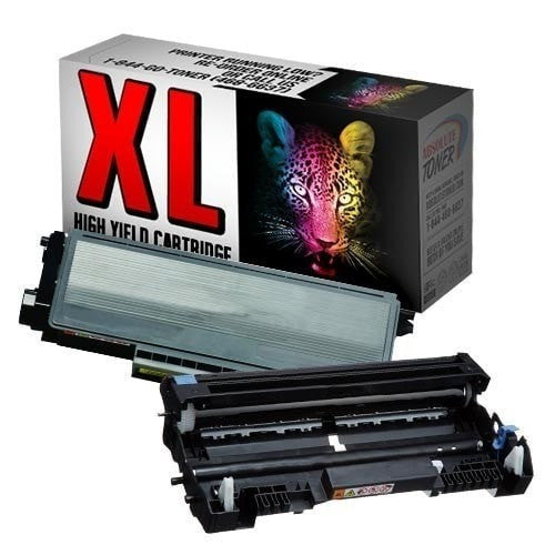 1 + 1 Brother TN-650 Compatible Black Toner Cartridge + DR-620 Drum Cartridge Combo (High Yield Of TN-620)
