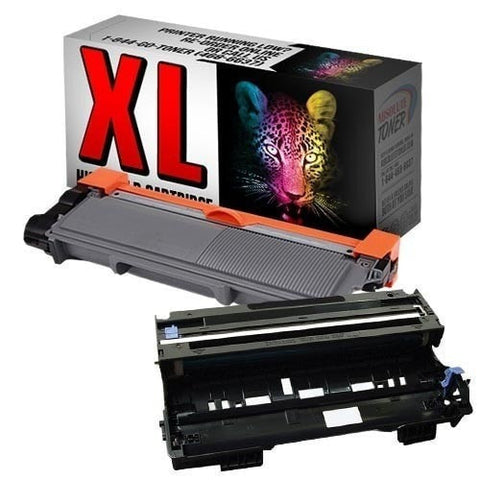 1 + 1 Brother TN-660 High Yield Black Toner + DR-630 Drum Unit Compatible Cartridge Combo (High Yield Of TN-630)