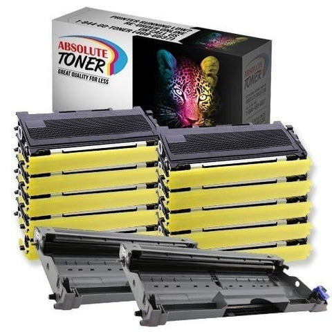10 + 2 Brother TN-350 Black Toner + DR-350 Drum Unit Compatible Cartridge Combo