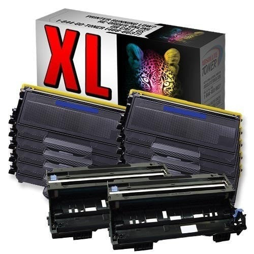 Absolute Toner Compatible 10 + 2 Brother TN-360 High Yield Black Toner + DR-360 Drum Unit Cartridge Combo (High Yield Of TN-330) Brother Toner Cartridges
