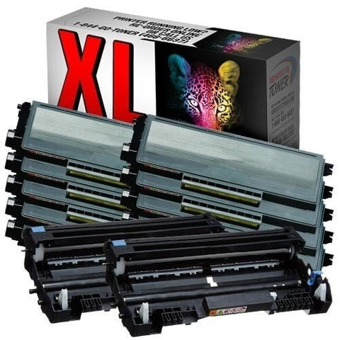 10 + 2 Brother TN-650 Compatible Black Toner Cartridges + DR-620 Drum Cartridge Combo (High Yield Of TN-620)